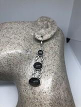 Vintage Topaz Art Glass 925 Sterling Silver Lever Back Earrings - $35.63