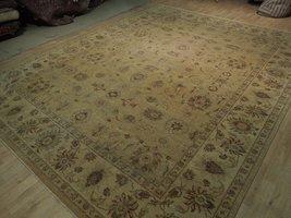 Honey Gold Wool Carpet 9' x 12' New Original Ziglar Oushak Hand-Knotted Rug image 5