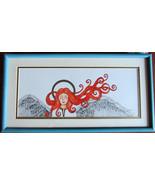 Red Hair, Angel, Irish, Original Pen and Ink Art, Framed,  Good Will, Pe... - $150.00