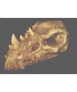 Gothic Medieval Horned Dragon Skull Statue Skeleton Bone Fantasy Renaiss... - $44.99