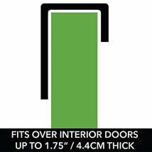 mDesign Decorative Metal Over Door 10 Hook Storage Organizer Rack - for Coats, H image 4