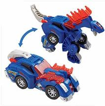 PANDA SUPERSTORE Deformable Dinosaur Toy Car for Children,Blue