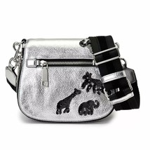 Marc Jacobs Gotham Flocked Animals Small Saddle Bag in Acciaio - $206.40