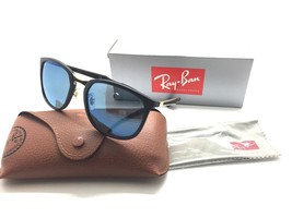 Ray Ban Active RB4299 601S 55 56 Matte Black Frame /Blue Mirror Lenses - $106.67