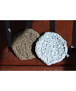 "Handmade Scrubbies (Dishcloth & Potholders) Gray/Blue 1/2"" RRM106 - $2.69"