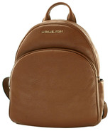 Michael Kors Abbey Backpack Bag Luggage Brown Medium Pebbled Leather - $438.88