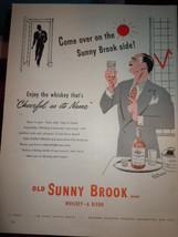 Vintage Old Sunny Brook Whiskey Print Magazine Advertisement 1946 - $10.99