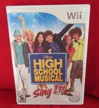 High School Musical: Sing It (Nintendo Wii, 2007) Game Only - $3.96