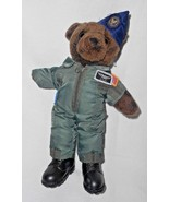USAF Military Teddy Bear Plush Stuffed Animal Air Force Uniform Boots - $15.30