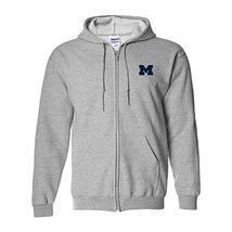 AZ07 - Michigan Wolverines Primary Logo Left Chest Full Zip Hoodie - 3X-... - $47.31