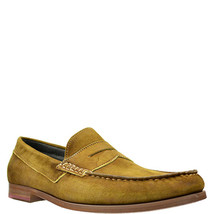 Donald Pliner Mens Nicola Washed Suede Penny Loafers Shoes Brown 7M MSRP... - $152.45