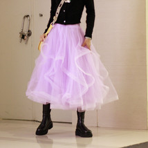 Layered Tulle Skirt Princess Outfit Plus Size Wedding Outfit Purple Tiered Skirt image 7