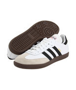 Mens Adidas Samba Classic White Athletic Indoor Soccer Shoe - £47.96 GBP