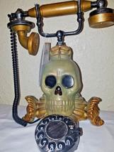 Halloween Animated Talking Lighted Skeleton Skull Telephone - €30,92 EUR
