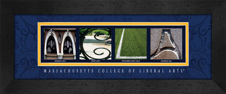 Primary image for Massachusetts College of Liberal Arts Framed Campus Letter Art
