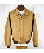 Carhartt FR Flame Resistant Bomber Style Jacket Brown Made In USA Mens S... - $90.25