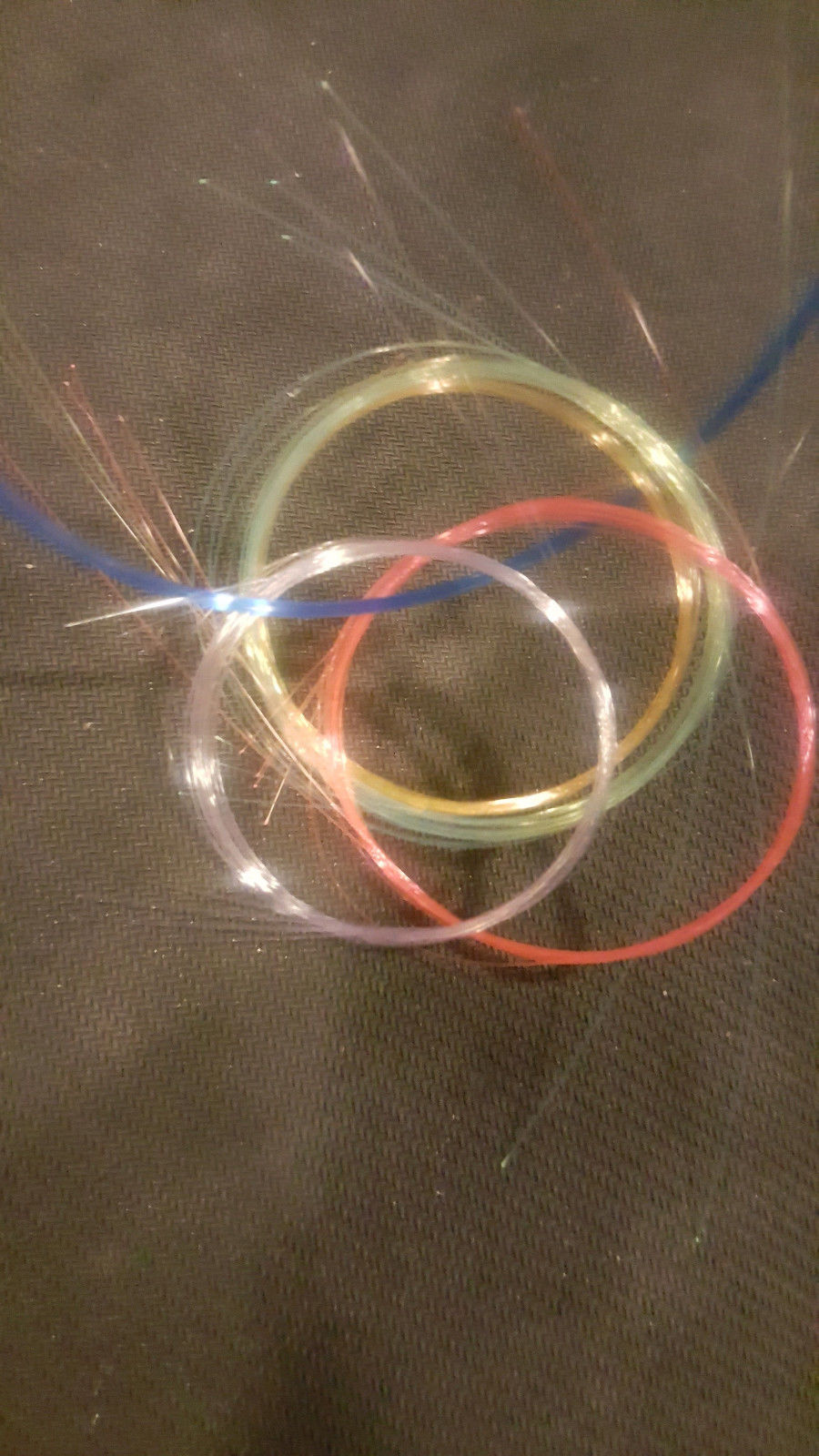"2x 10"" of .75mm/.029"" Fluorescent Fiber Optic strands for Crafts"