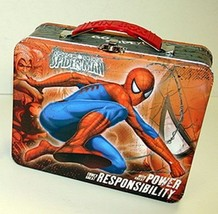 The Amazing Spider-Man Large Carry All Tin Tote Lunchbox Style B, NEW Ma... - $8.79