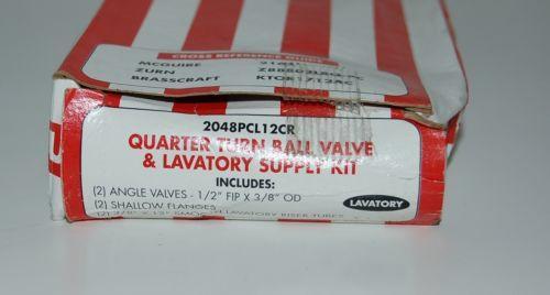 Keeney  MFG Company 2048PCL12CR Quarter Turn Ball Valve Lavatory Supply Kit