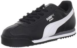 PUMA Kids' Roma Basic Jr-K Black/White/Puma Silver 6 M US Big Kid - $32.36