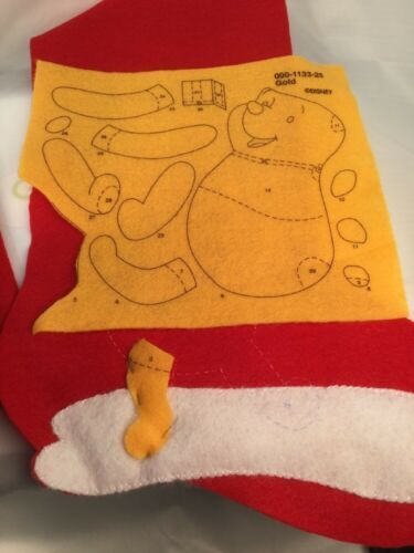 "Disney Winnie The Pooh ""Pooh's Presents"" Christmas Stocking Janlynn #1133-25 image 6"
