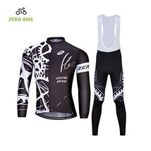 ZEROBIKE Men's Outdoor Breathable Sports Long Sleeve Cycling Jersey and 3D Padde - $40.58