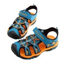 Breathable Boy's Outdoor Comfort Casual Beach Sandals ORANGE, Feet Length 16.8CM
