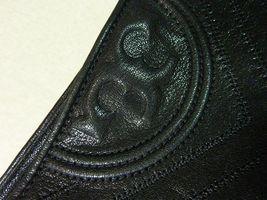 Nwt Tory Burch Schwarz Antikleder Fleming Tote image 9