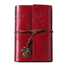 Diary Book, PU Leather Notebook, Journal Notebook [Maple Leaf, Red] - $17.73
