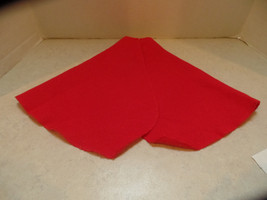 Red cape for your dolls.  It has serged edges to prevent raveling, and a... - $9.99