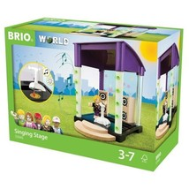 Brio Singing Stage 6Pc Set Real Blinking Lights and Music World Village ... - $17.45