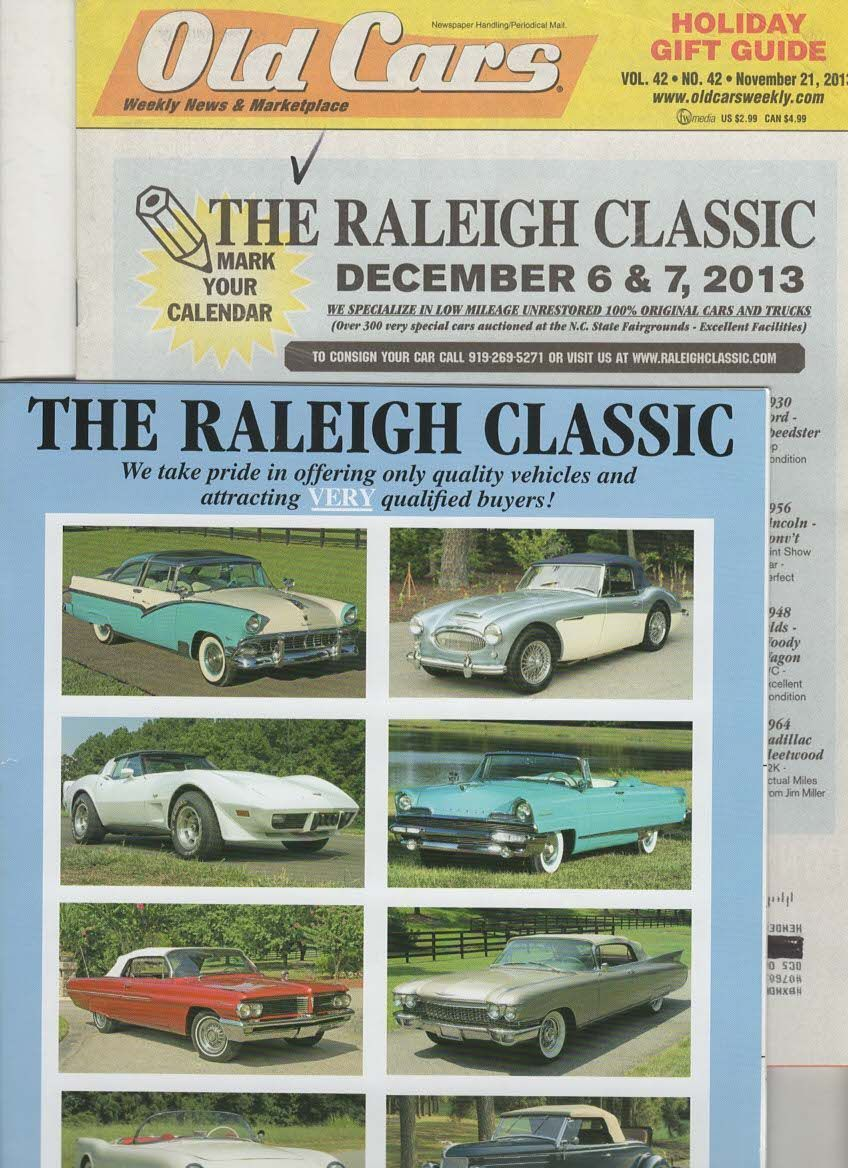 The Raleigh Classic and Old Cars Weekly News NOV/DEC 2013 ( File MG ...