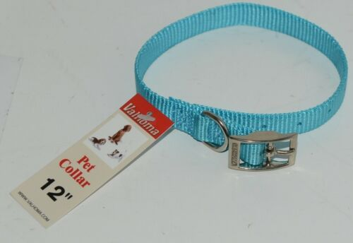 Valhoma 720 12 TQ Dog Collar Turquoise Single Layer Nylon 12 inches Package 1