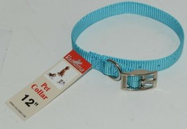 Valhoma 720 12 TQ Dog Collar Turquoise Single Layer Nylon 12 inches Package 1 image 1