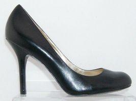 Jessica Simpson 'Henri' black leather patent round toe slip on heels 9.5B 6348 image 8