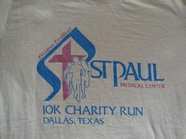 Vintage 80's St. Paul Hospital Dallas Marathon Kiss 106.1 Radio 10k T sh... - $16.82