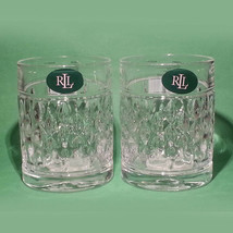 Ralph Lauren Crystal Whiskey DOF 11.3oz Tumbler ASTON Germany, Set of 2 - $38.75