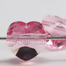 Genuine Swarovski Crystal Elements 5742 Heart Beads LIGHT ROSE - 10mm, 1... - $8.80