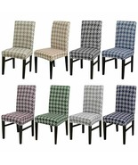 Classic Geometric Print Chair Cover Elastic Seat Washable Decor Dining R... - $11.71