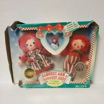 NEW 1996 Raggedy Ann & Andy Hasbro  Holiday Set with Mini Collector's Doll - $23.74