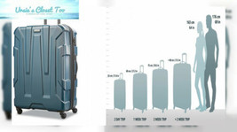 Samsonite Centric Expandable Hardside Luggage with Spinner Wheels, Teal - $117.80