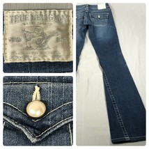 True Religion Women's Joey Twist Seam Flare Jeans Flap Pocket Pearl Snap... - $45.53
