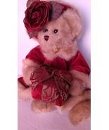 "Bearington Bear Collection ""Virginia"" Christmas Bear With Velvet Coat & ... - $15.99"