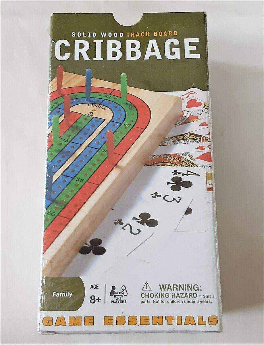 Cribbage Board Folding Solid Wood 3 Track Cardinal - $12.17