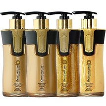 Keratin Cure Gold & Honey V2 Creme Hair Straight Treatment 4 Piece Kit 300ml10oz - $194.00