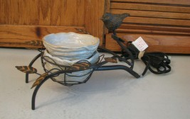 Scentsy Bird Nest Retired Element Wax Warmer Wrought Iron Ceramic 36177 - $42.56