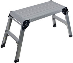 BUILDERS STEP UP LADDER PLATFORM HOP UP WORK STOOL BENCH 500MM 150KG U88 - $40.92