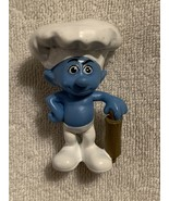 SMURF  BAKER     2011 PEYO  Made for McDonalds  Good used condition. - $2.95