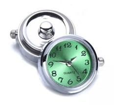 Snap Watch Clock Charm Button - Fits Magnolia, Ginger, Ect. - Green Face... - $8.86