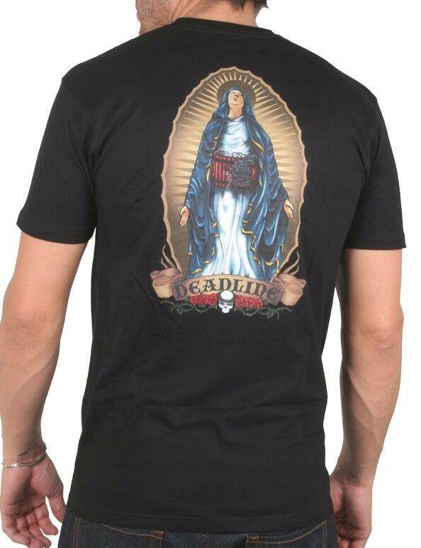 Deadline Hombre Black Virgin Mary Jane Suicide Bomber Camiseta DL-T2305 NW